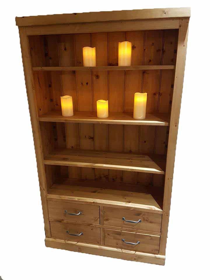Port Royal 4 Drawer Bookcase With Adjustable Shelves