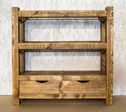 Rustic Wooden Shoe Rack With Drawer Up To 15 Pairs